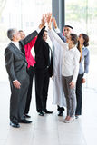 Business team high five Royalty Free Stock Image