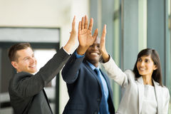 Business team high five Stock Image