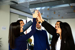 Business team is holding hands together Royalty Free Stock Photo
