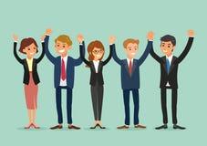 Business team holding hands together Stock Image