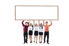 Business team hold up copyspace Royalty Free Stock Photography