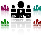 Business team icons set Royalty Free Stock Images
