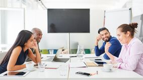 Free Business Team In A Meeting During Strategy Discussion Royalty Free Stock Image - 189521436