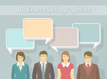 Business Team Infographics Elements Royalty Free Stock Photography