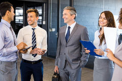 Business team interacting in office Royalty Free Stock Image
