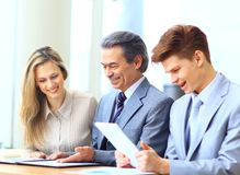 Business team interviewing Royalty Free Stock Images