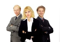 Business team isolated Stock Photos