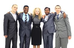 Business team isolated. Over white background Stock Images