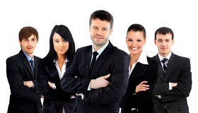 Business team isolated. Large business team isolated over a white background Royalty Free Stock Image