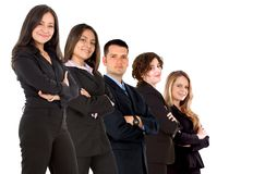 Business team isolated Stock Image