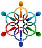 Business team. Isolated illustrated logo design royalty free illustration