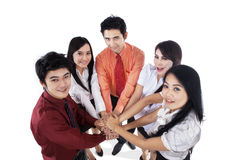 Business team join hands Stock Image
