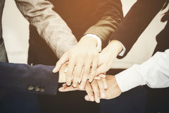 Business team joining hands togethe Royalty Free Stock Photos