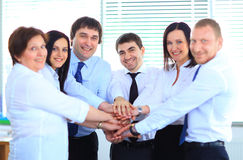Business team joining hands Royalty Free Stock Images