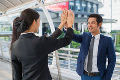 Business team joining hands together for success agreement Stock Photography