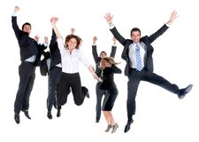 Business team jumping Stock Images