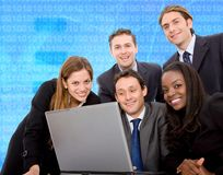 Business team on a laptop Stock Images