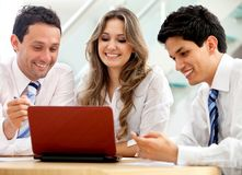 Business team with a laptop Royalty Free Stock Images
