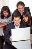 Business team on a laptop Stock Photography