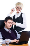 Business team with laptop Stock Photography