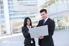 Business Team With Laptop Royalty Free Stock Image