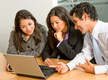 Business team on a laptop Royalty Free Stock Photos