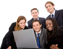 Business team on a laptop Stock Photo