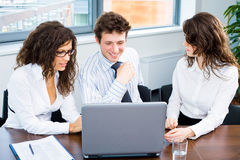 Business team with laptop Royalty Free Stock Images