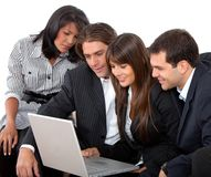 Business team on a laptop Royalty Free Stock Image