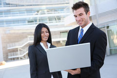Business Team With Laptop (Focus on Man) Royalty Free Stock Images