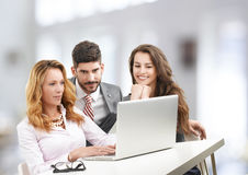 Business team with laptop Stock Photo