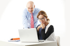 Business team with laptop Stock Image