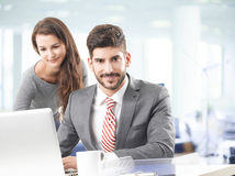 Business team with laptop Stock Photos