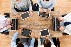 Business team with laptop and tablet pc Stock Photography