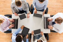 Business team with laptop and tablet pc Stock Photos