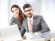 Business team with laptop Stock Images