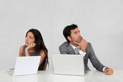 Business team with laptops isolated Stock Photography