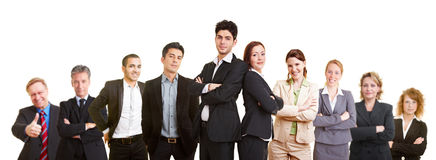 Business team with lawyers. Business team with many different happy lawyers royalty free stock image