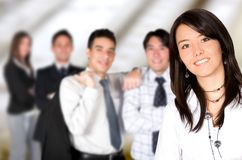 Business team lead by a business woman Royalty Free Stock Photo