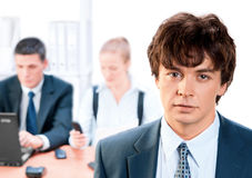 Business team and a leader Royalty Free Stock Image