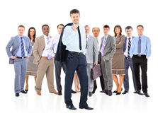 Business team and leader Stock Photography