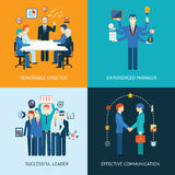 Business team leader banners Royalty Free Stock Photos