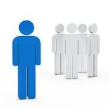 Business team leader blue. 3d business team white success leader blue Stock Images