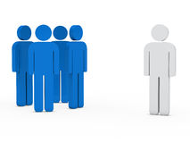 Business team leader blue. 3d business team white success leader blue Royalty Free Stock Photography