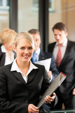 Business Team with leader in office Royalty Free Stock Photography