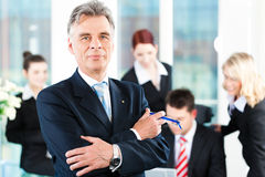 Business Team with leader in office Royalty Free Stock Image