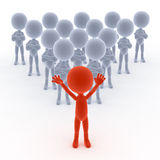 Business team leader with people Stock Images