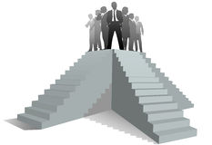 Business team leader people stairs up to success Royalty Free Stock Photo