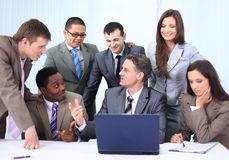 Manager and business team in office Stock Photo