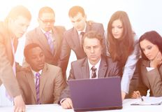 Manager and business team in office Stock Images